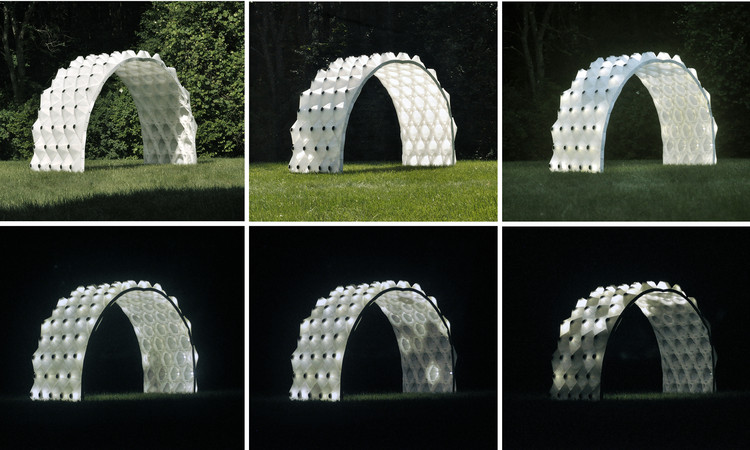 This 3D Printed Pavilion Provides Shade During the Day and Illuminates at Night, Courtesy of Brian Peters