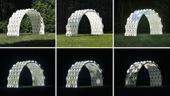 This 3D Printed Pavilion Provides Shade During the Day and Illuminates at Night