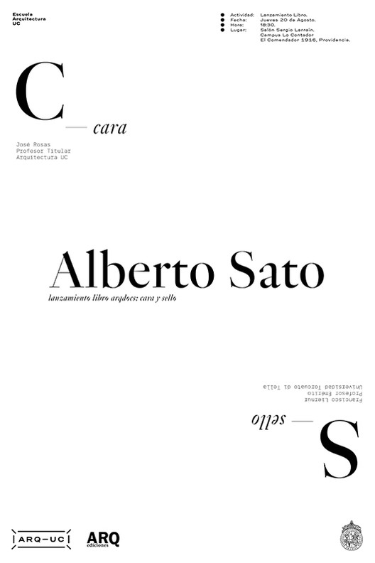 Lanzamiento Libro ARQ Docs: Alberto Sato Kotani / Santiago, Arquitectura UC