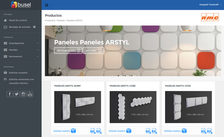 Centro de Diseño Busel: un sitio web para conocer materiales a fondo, Cortesía de Busel