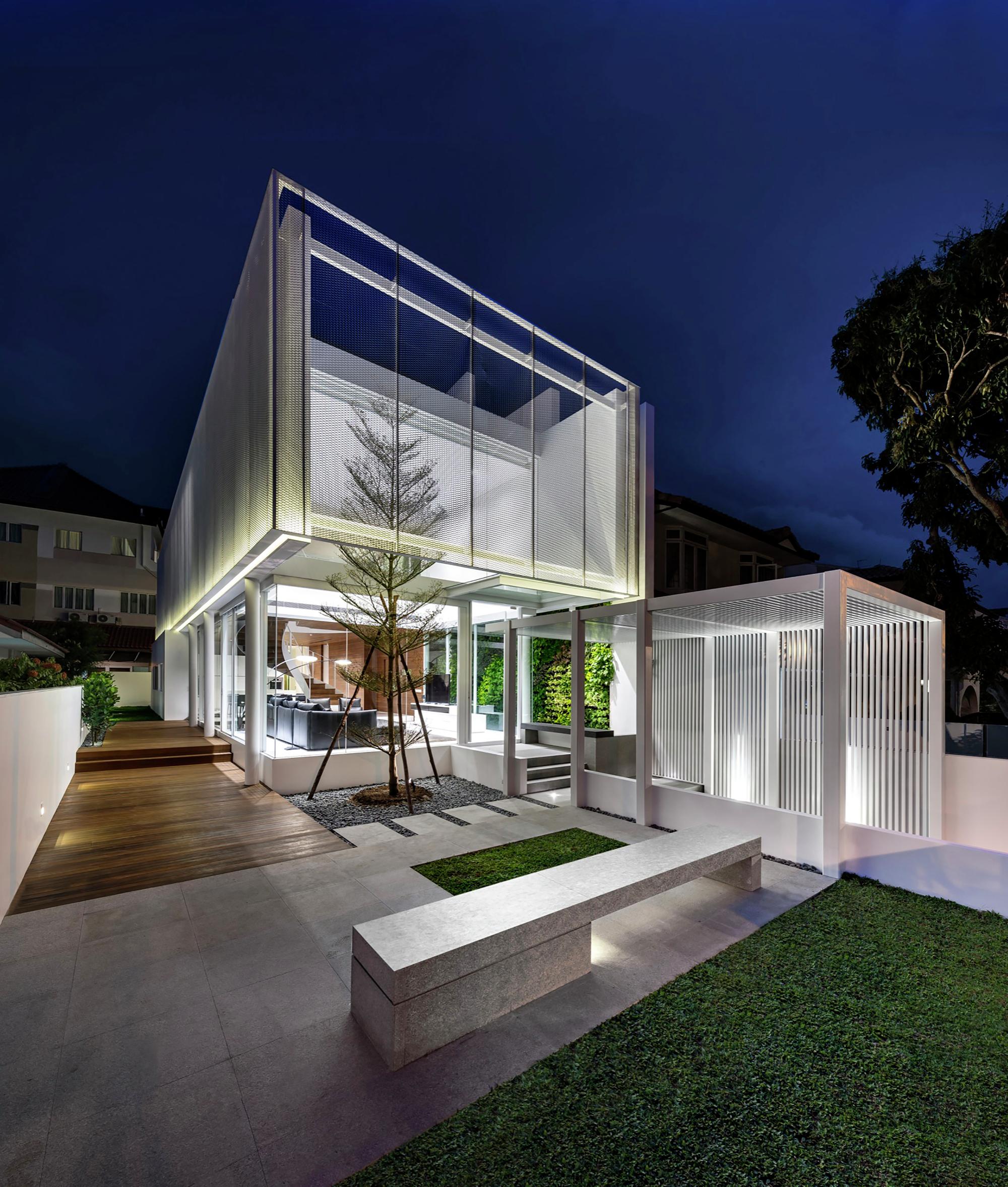 Galeria de casa greja park associates 6 for Casa moderna 7 mirote y blancana