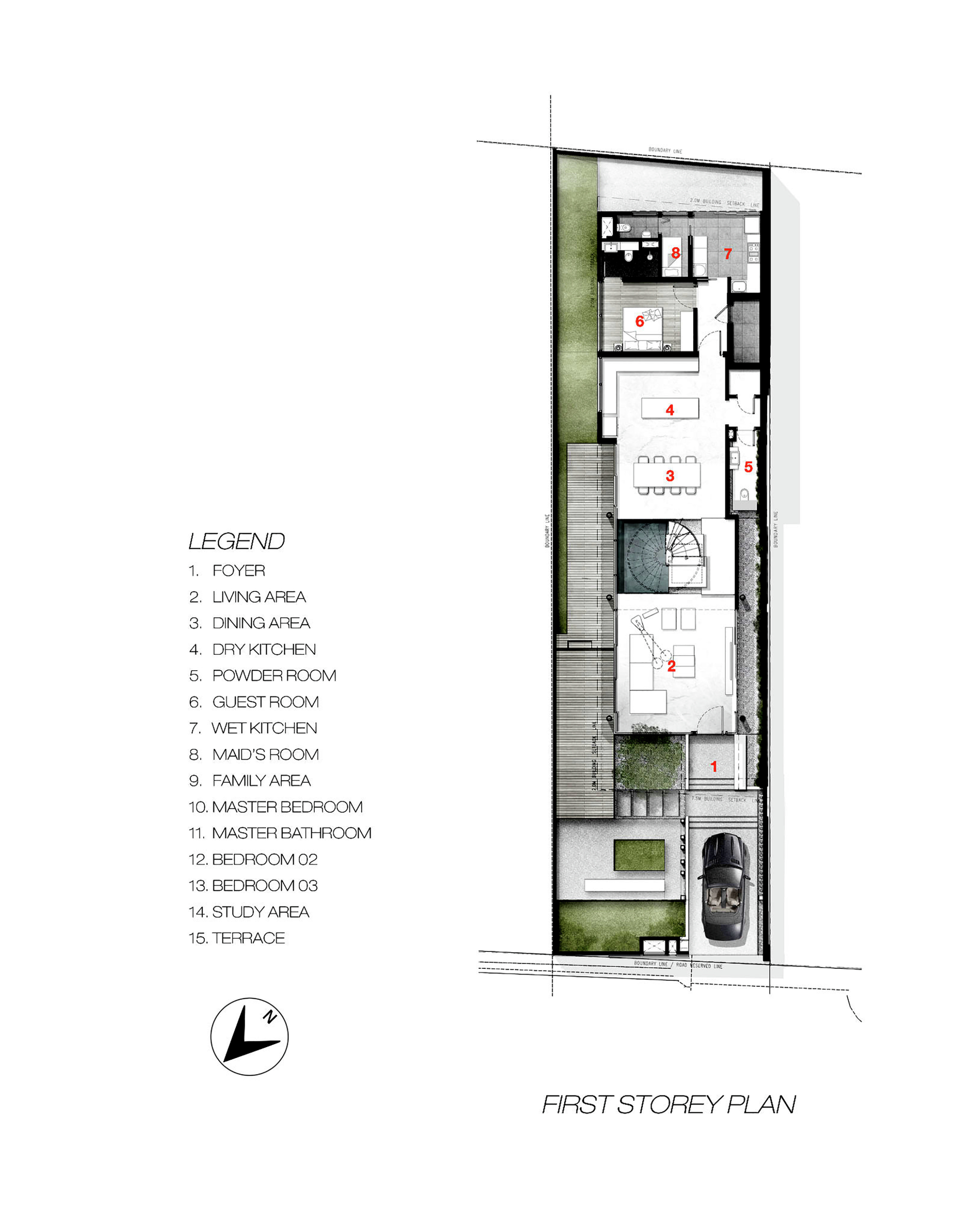 Galeria de casa greja park associates 12 for Casas angostas y largas interior