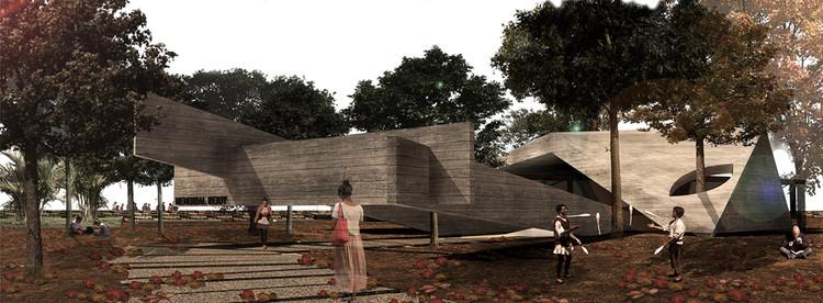 Resultados do concurso #011 Projetar.org - Memorial Reidy , Primeiro Lugar - DVê. Image Cortesia de Projetar.org