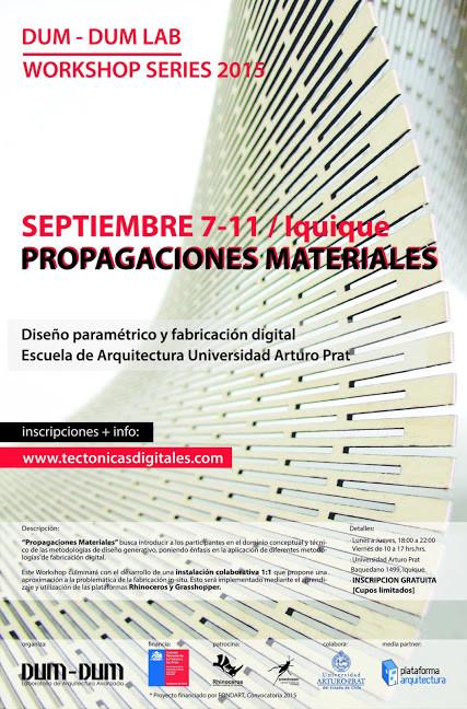 Workshop Series: 'propagaciones materiales' / Iquique [sorteo cerrado]