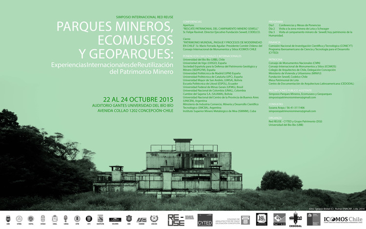 Simposio internacional: experiencias internacionales de reutilización del patrimonio minero / Concepción, Nicolás Sáez