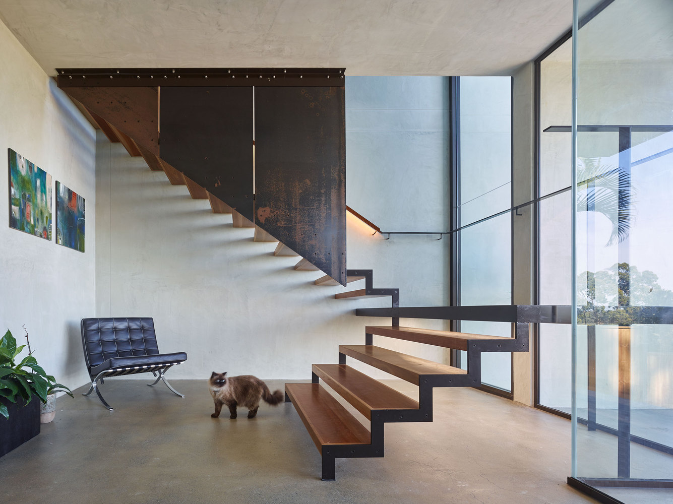 Garde Corps Metal Design gallery of bardon residence / bligh graham architects - 13