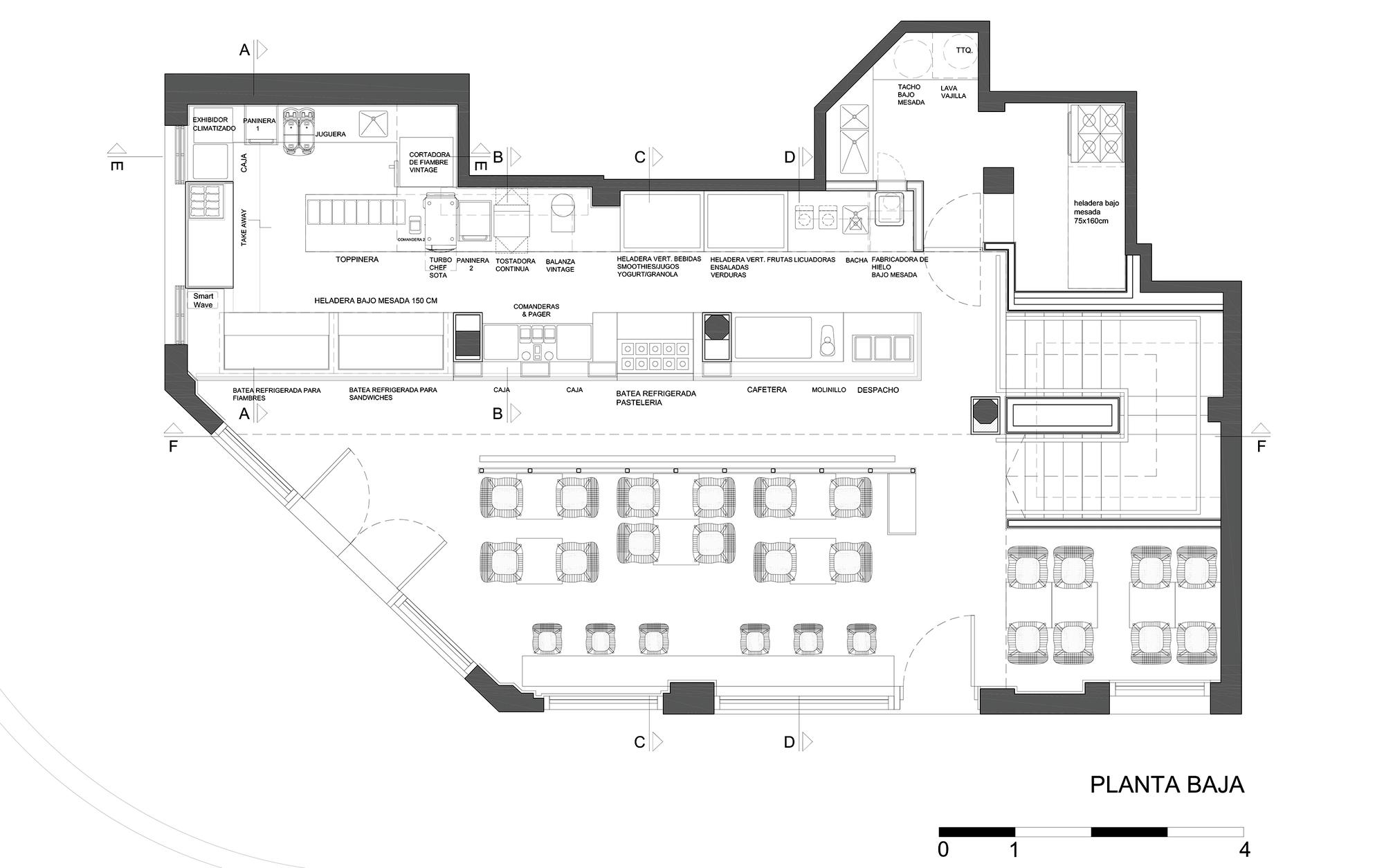 gallery of tostado cafe club hitzig militello arquitectos 15. Black Bedroom Furniture Sets. Home Design Ideas