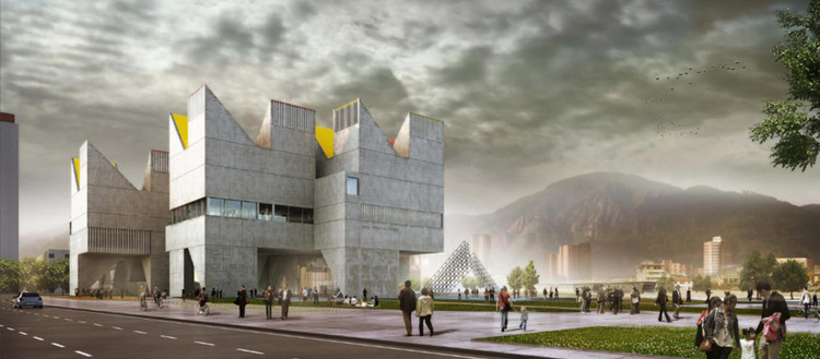 Un país sin memoria: ¿puede la arquitectura ayudar a construirla?, Primer Lugar Concurso MNMH Colombia. Image Cortesía de Equipo Primer Lugar
