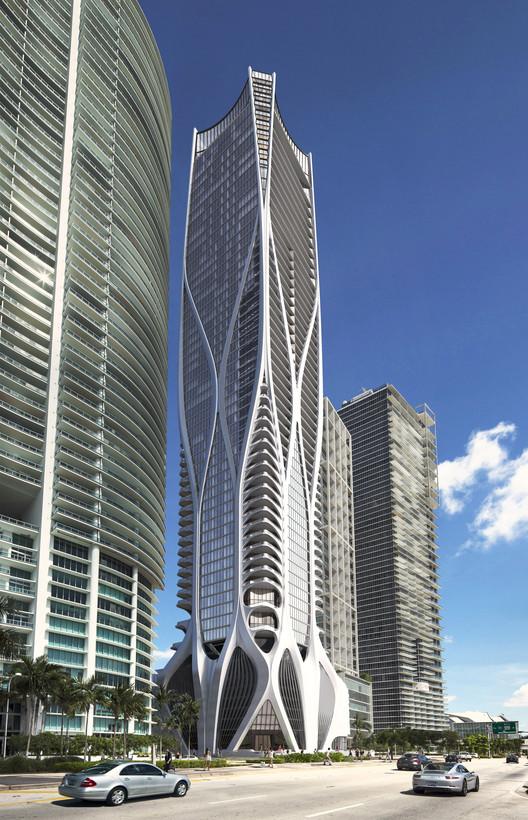 Tem início a construção do One Thousand Museum de Zaha Hadid em Miami, Cortesia de Zaha Hadid Architects