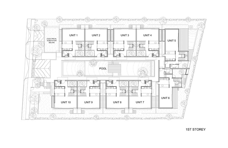 Toh Crescent Hyla Architects ArchDaily - Cluster home floor plans