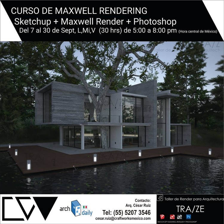 Curso de maxwell rendering para arquitectos ciudad de for Cursos para arquitectos