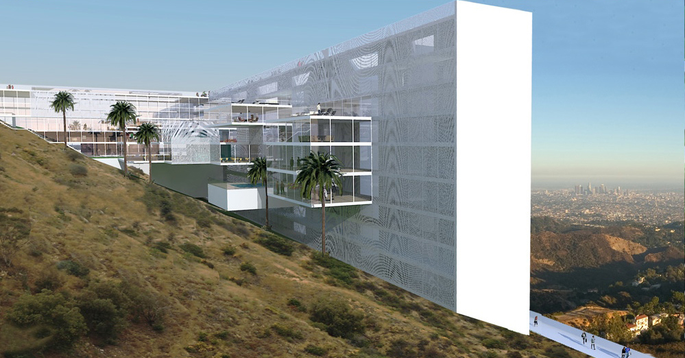 the hollywood sign hotel archdaily