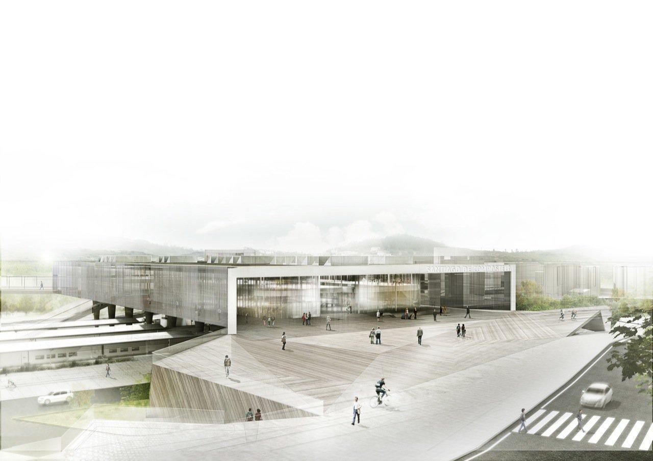 Galer a de nueva intermodal santiago de compostela - Arrokabe arquitectos santiago de compostela ...