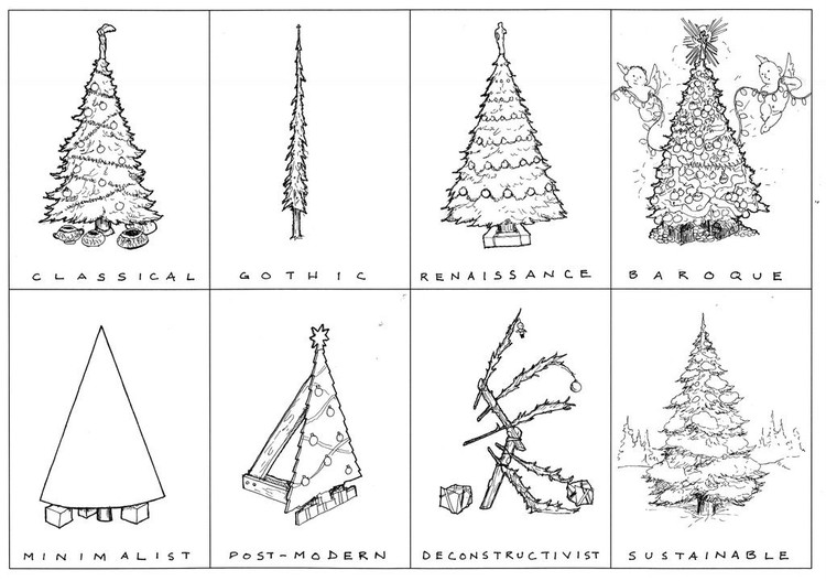 History Of Christmas Tree.Architectural History Of The Christmas Tree Archdaily