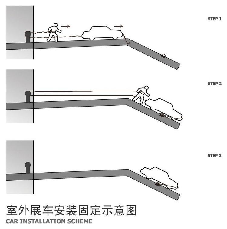 Slope car installation. Automobile Museum in Nanjing   3Gatti Architecture Studio   ArchDaily