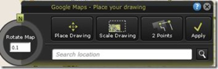 Gallery of Overlay 2D AutoCAD DWG on Google Maps with