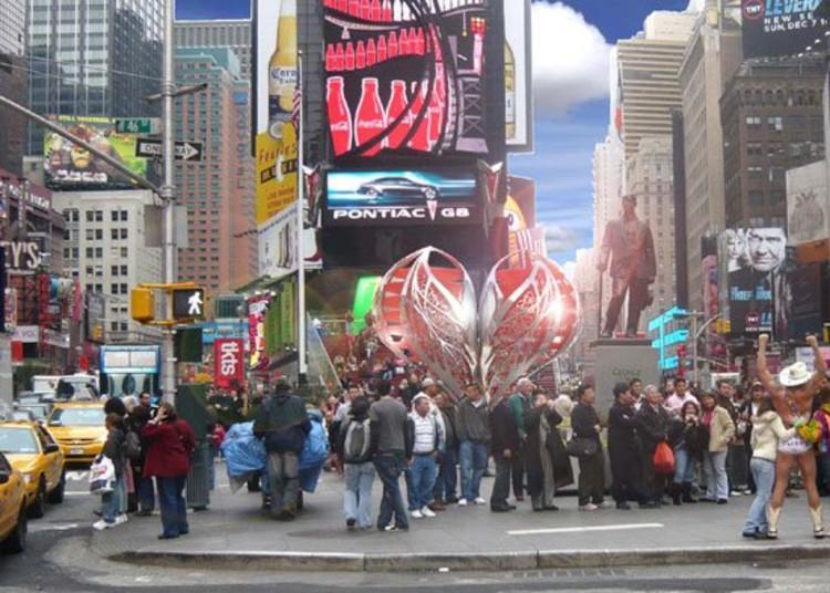 Times Square Celebrates Valentine's Day
