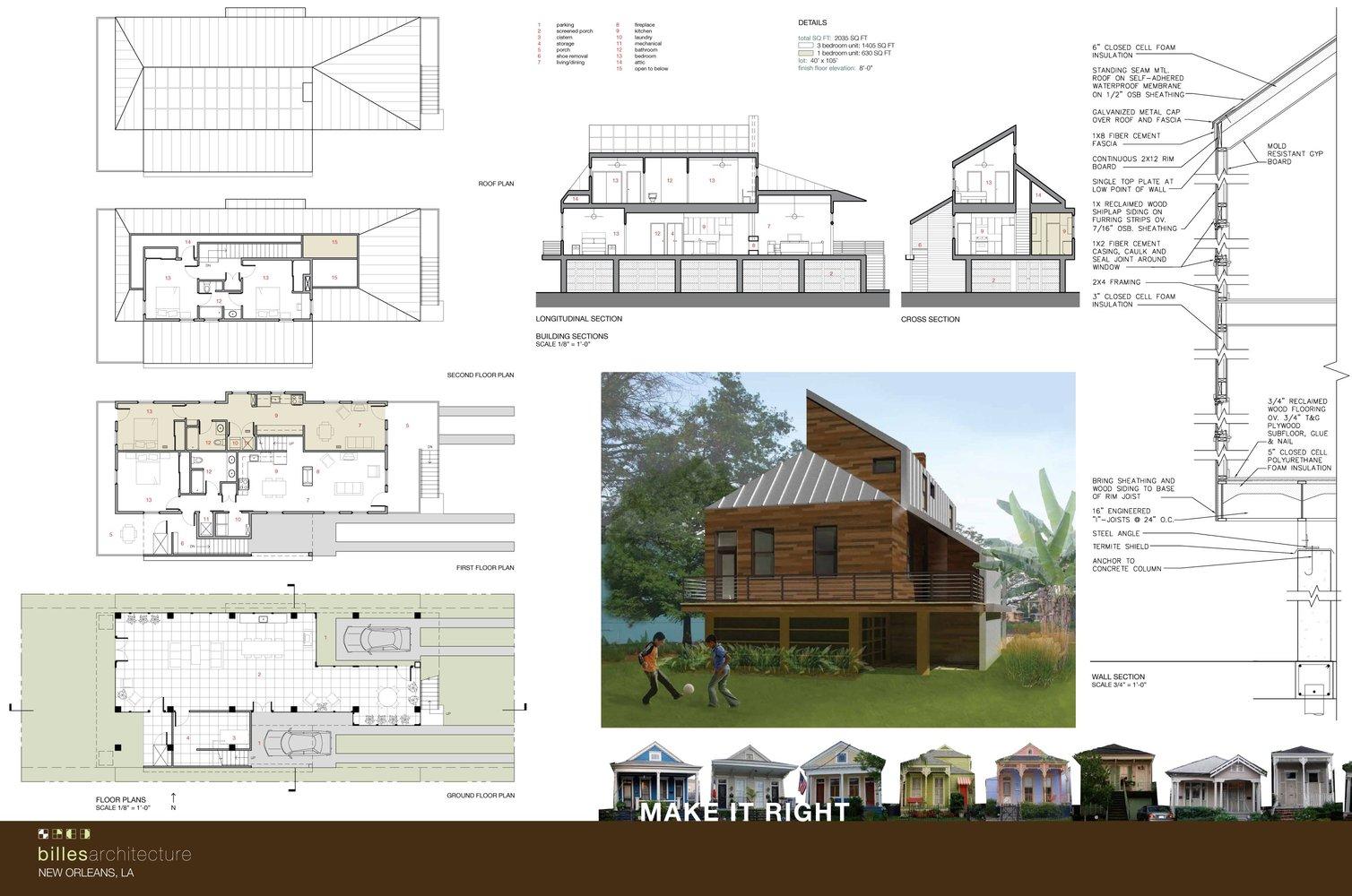 Gallery of Brad Pitt\'s Make It Right presents duplex homes for NOLA - 19