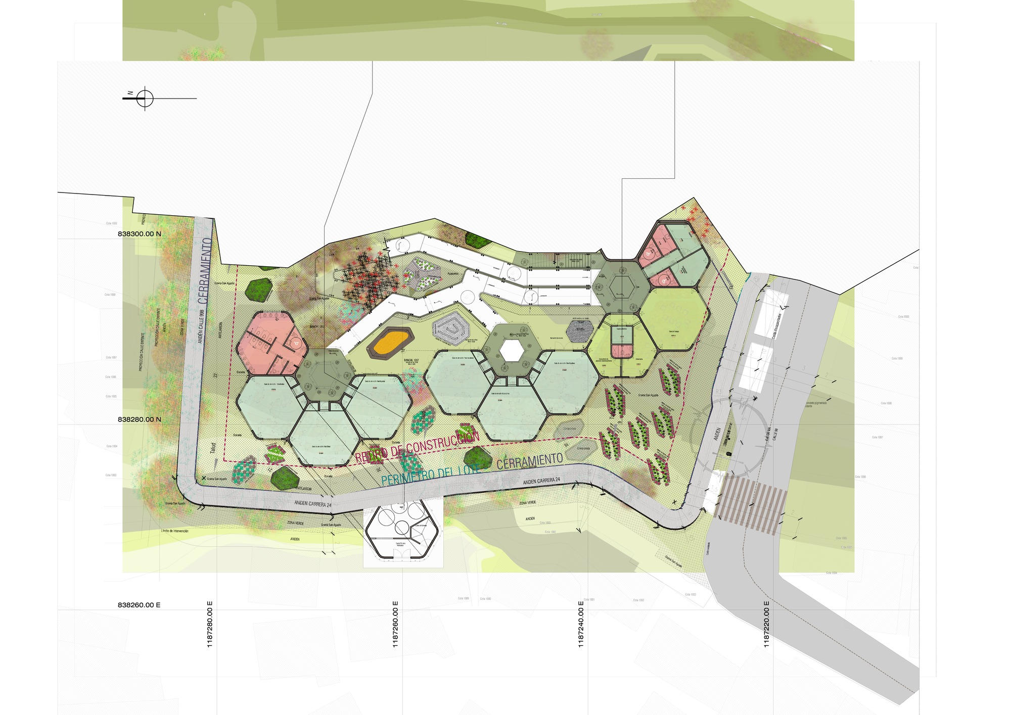 Galer a de en construcci n jard n infantil carpinelo for Plantas ornamentales para parques