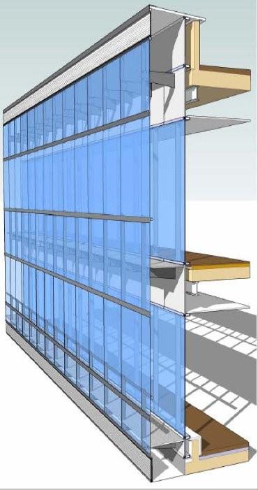 En detalle muro cortina plataforma arquitectura - Fachadas de cristal ...