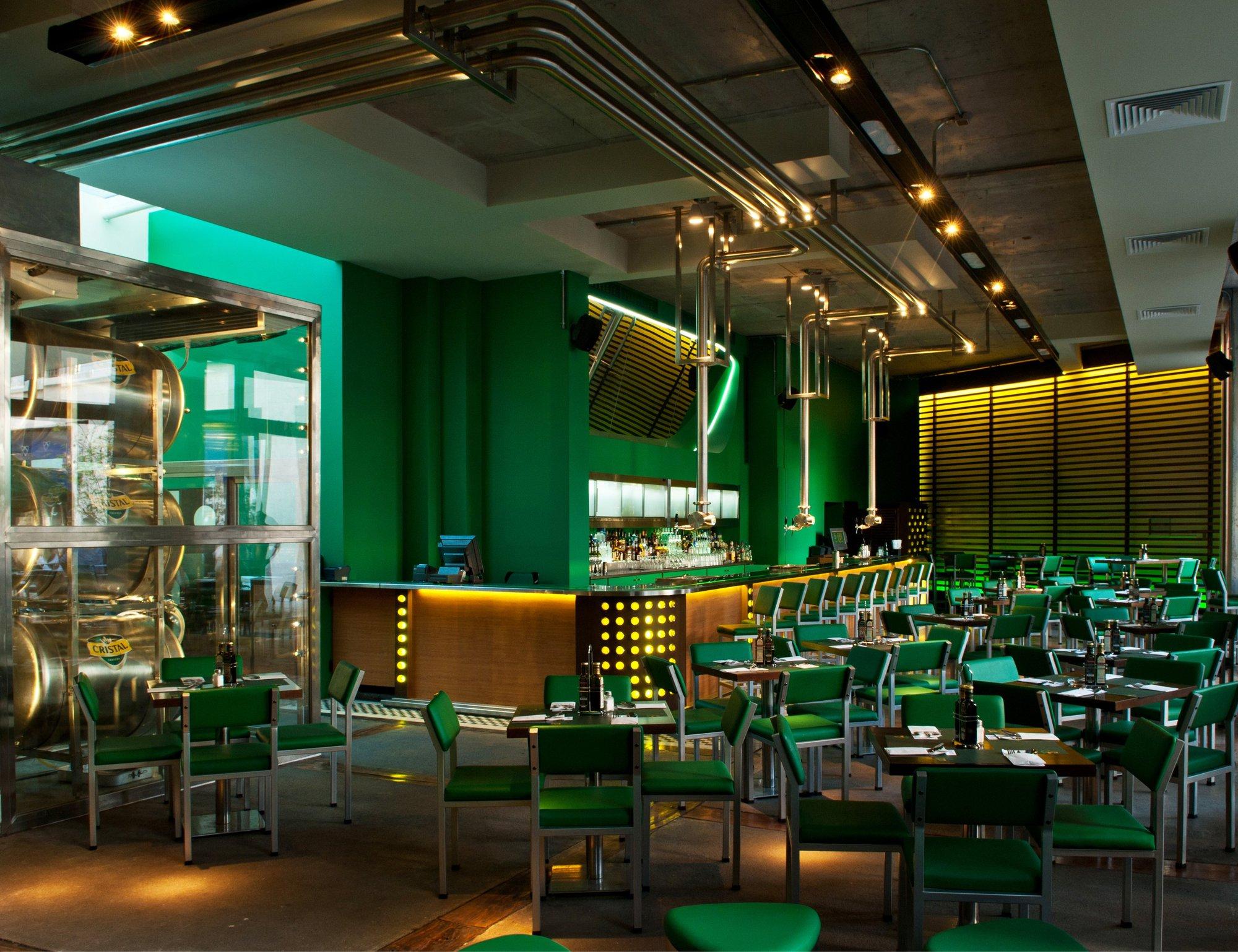 Galer a de proyecto iluminaci n bar la junta diav 7 - Barras de bar iluminadas ...