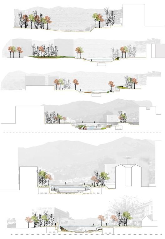 Segundo lugar concurso de ideas para la integraci n urbana for Sedute dwg