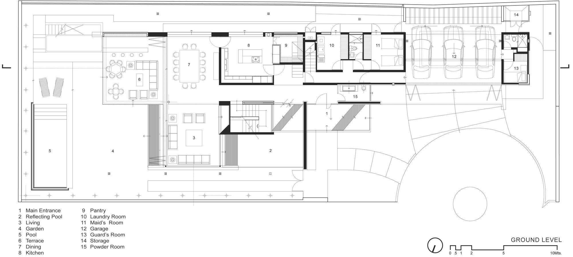 Casa ff hernandez silva arquitectos archdaily m xico for Minimal house plan
