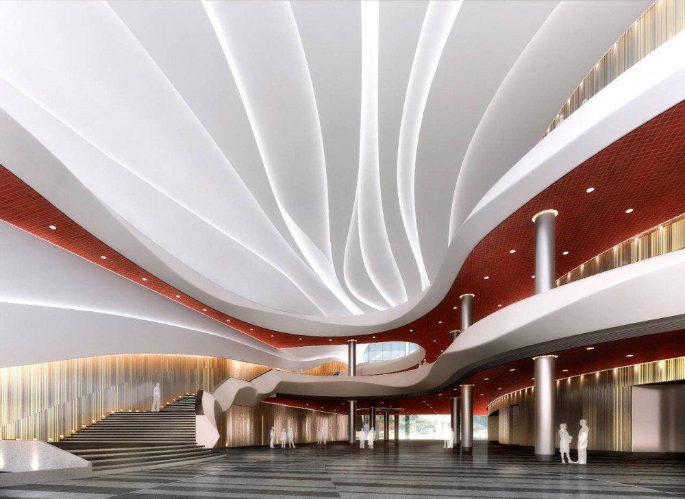 Galer a de en construcci n anhui broadcasting tv centre for 4 design hotel saccharum