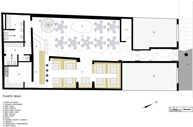 Galer a de limbo pub espacio s r l arquitectura for Planta arquitectonica de una oficina