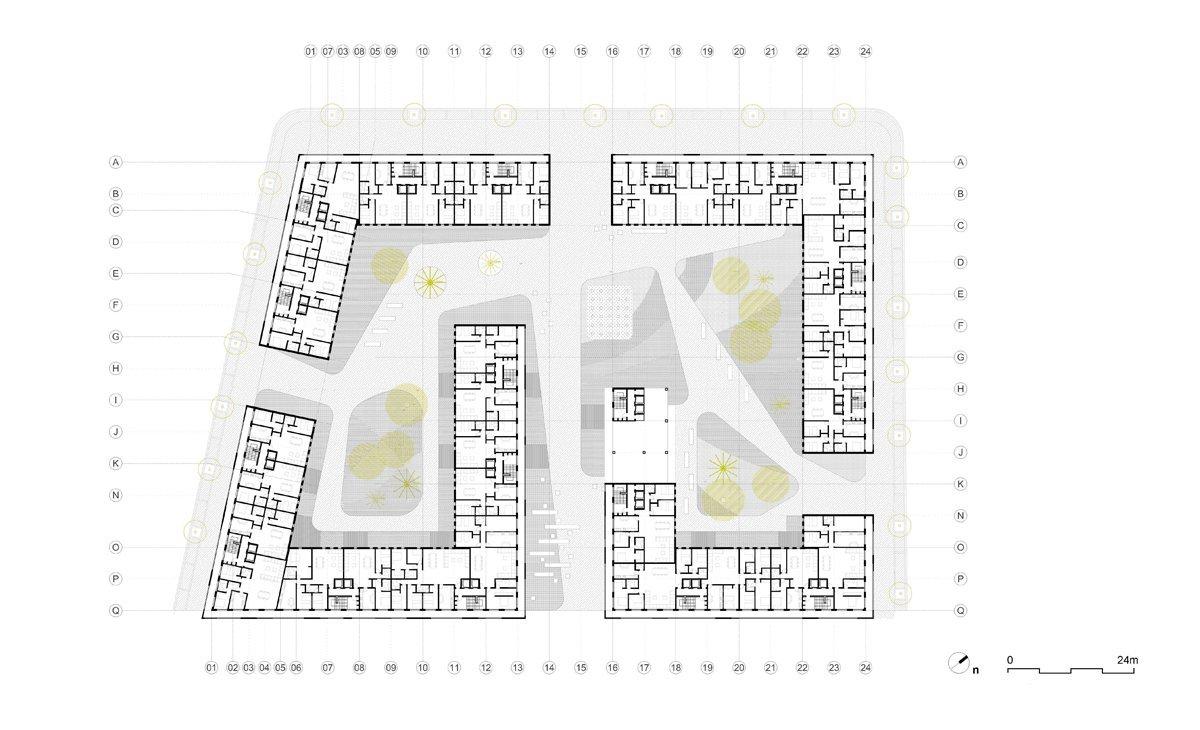 Vivienda colectiva en casablanca aqso arquitectos office for Plan de arquitectura