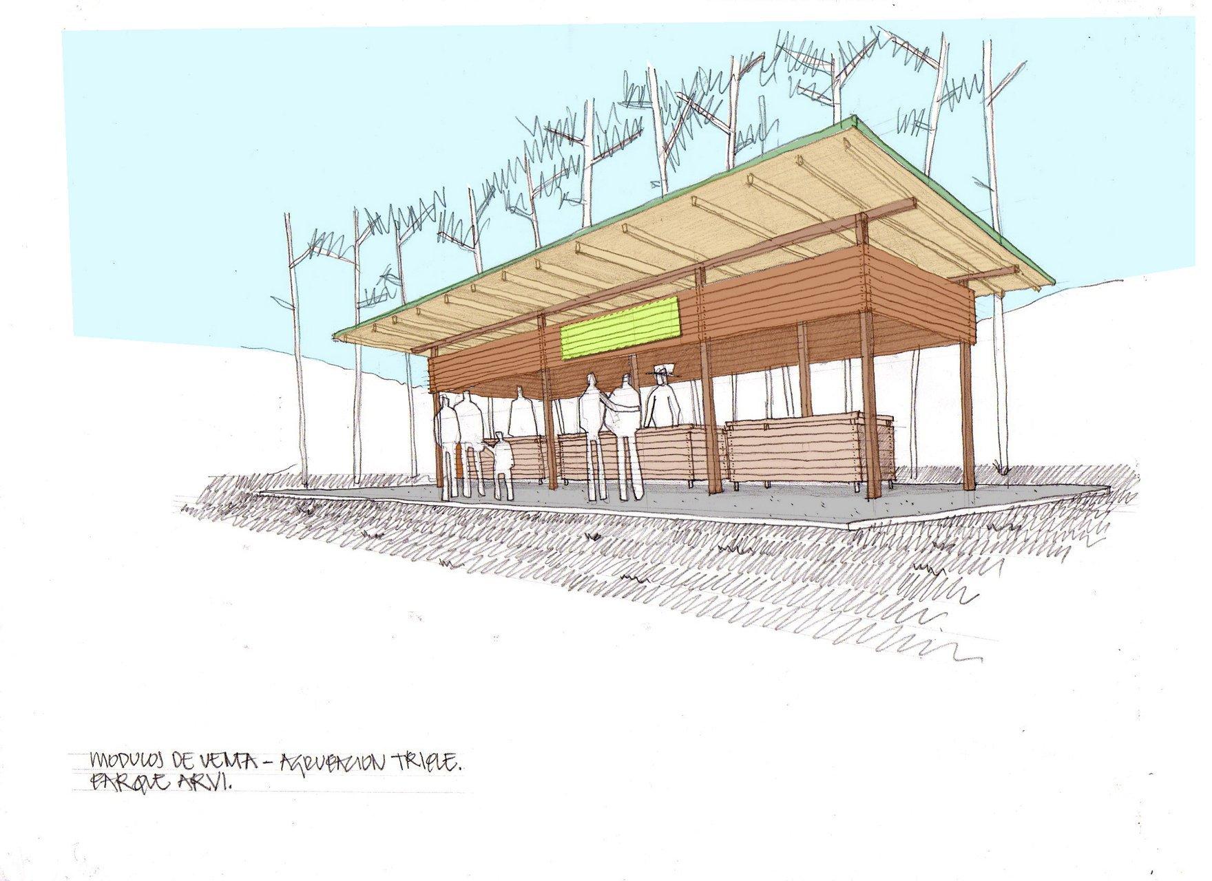 Galer a de mobiliario urbano para el parque arvi escala for Equipamiento urbano arquitectura pdf