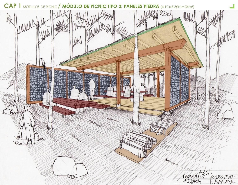Galer a de mobiliario urbano para el parque arvi escala for Mobiliario para el jardin