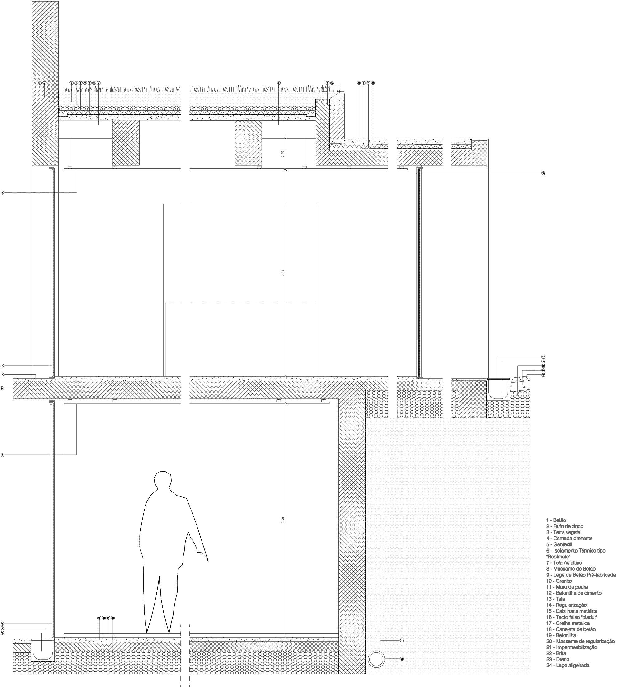 Galer a de en detalle cortes constructivos techos verdes 6 - Detalle constructivo techo ...