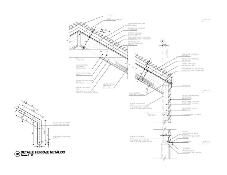 En detalle cortes constructivos estructuras de madera for Estructuras para arquitectos pdf