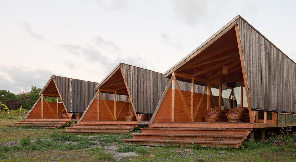... Maitencillo / Jonas Retamal. En Detalle: Cortes Constructivos /  Estructuras De Madera, © AATA Arquitectos