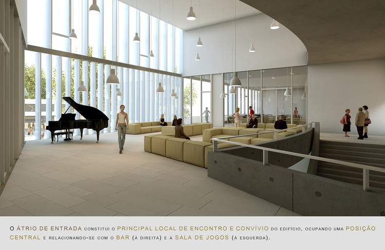 Ganador concurso secil centro multifuncional y residencia for Piso 0 salas de estudo e atl