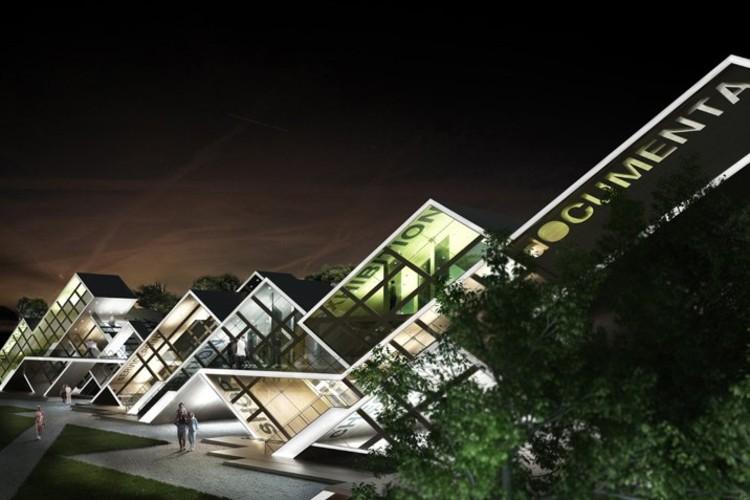 Pabell n modular randerscheinung prechteck archdaily for Arquitectura modular