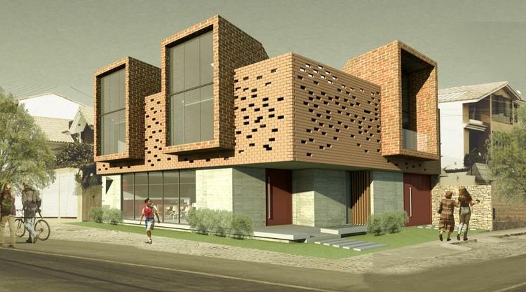 Primer lugar concurso vivienda unifamiliar de ladrillo for Vivienda unifamiliar arquitectura