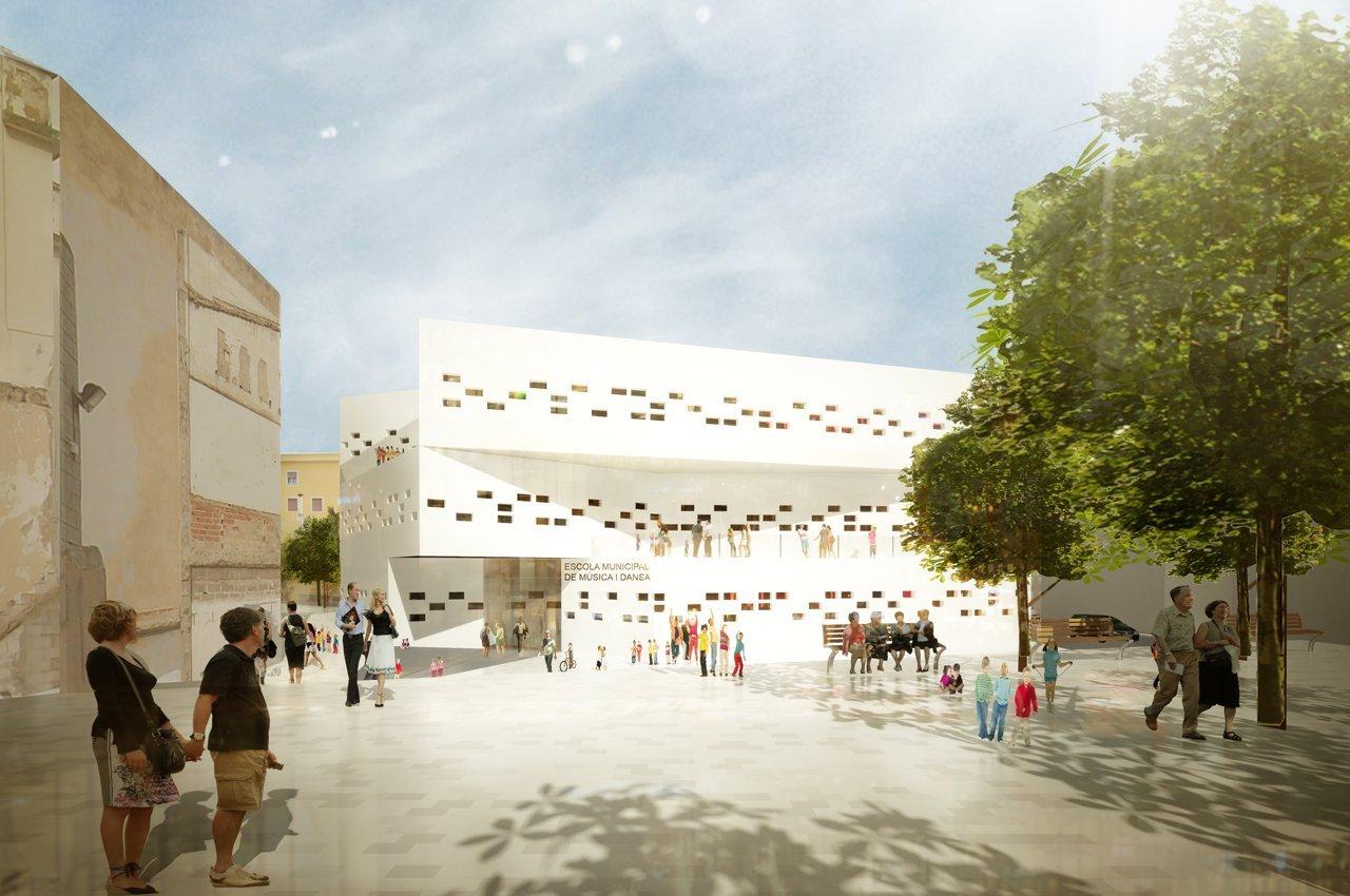 Escuela municipal de m sica y danza en ciudadela menorca for Escuela arquitectura