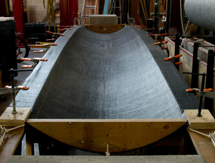 En Detalle: Moldajes textiles para estructuras laminares de hormigón, Cortesía de Ronnie Araya