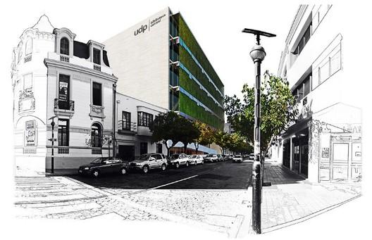 En Construcción: Centro de Extensión y Biblioteca Central UDP / Mathías Klotz