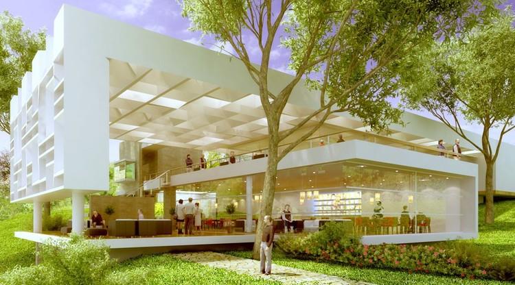 Primer lugar concurso restaurante bar en el club campestre for Programa arquitectonico restaurante