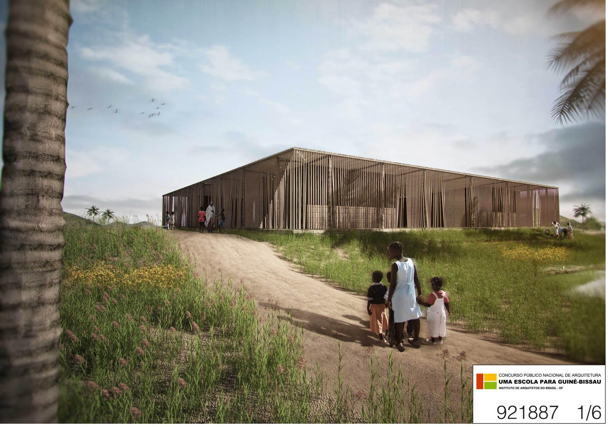 Segundo lugar concurso una escuela para guinea bissau for Mapa facultad de arquitectura