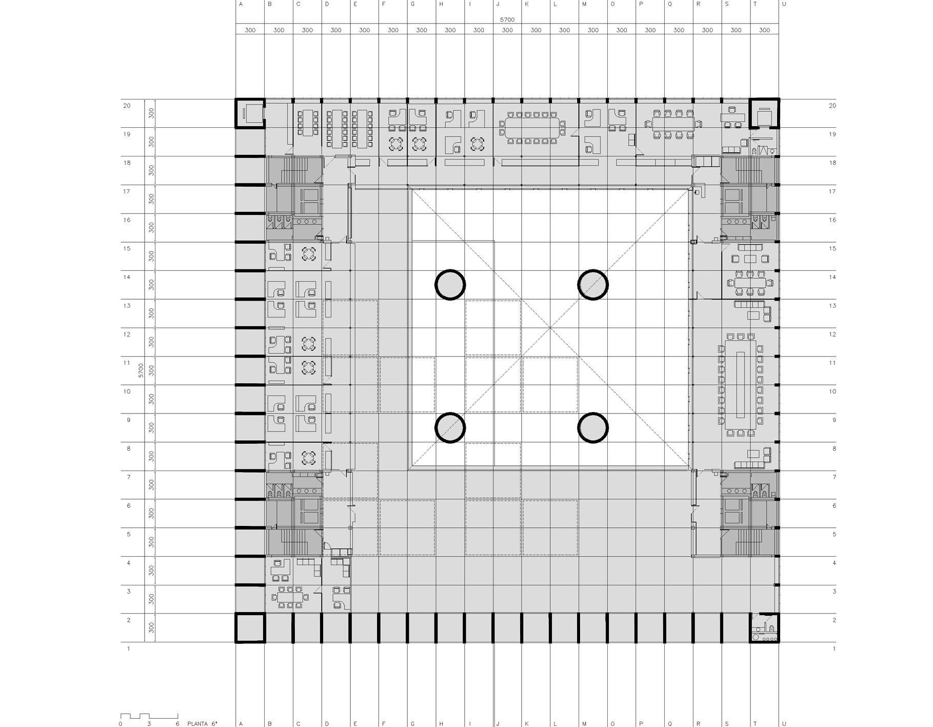 Cl sicos de arquitectura caja granada impluvium de luz for Bmn caja granada oficinas