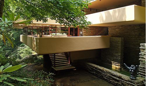 Galer a de cl sicos de arquitectura casa en la cascada for Frank lloyd wright casa della prateria