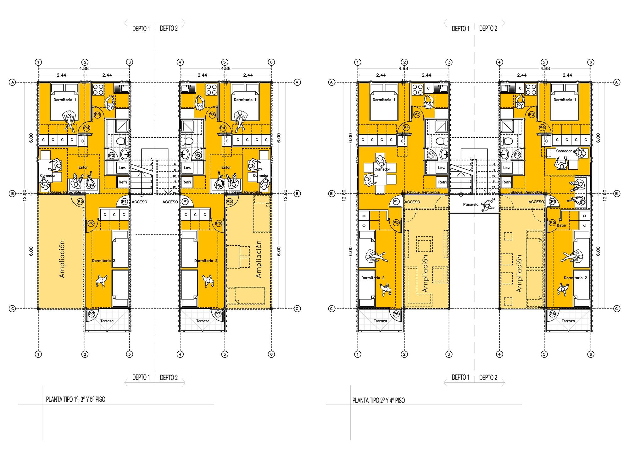 Galer a de propuesta de vivienda social en contenedores - Contenedores maritimos para vivienda ...