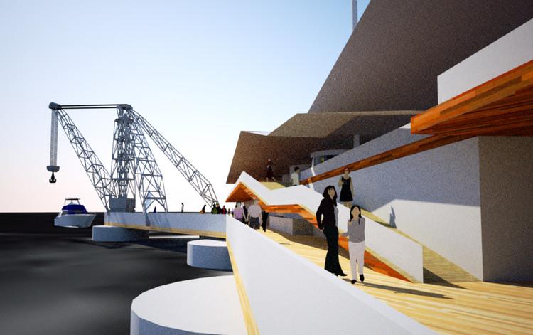 Ganador concurso de ideas para la recuperaci n del muelle for Arquitectura naval e ingenieria maritima