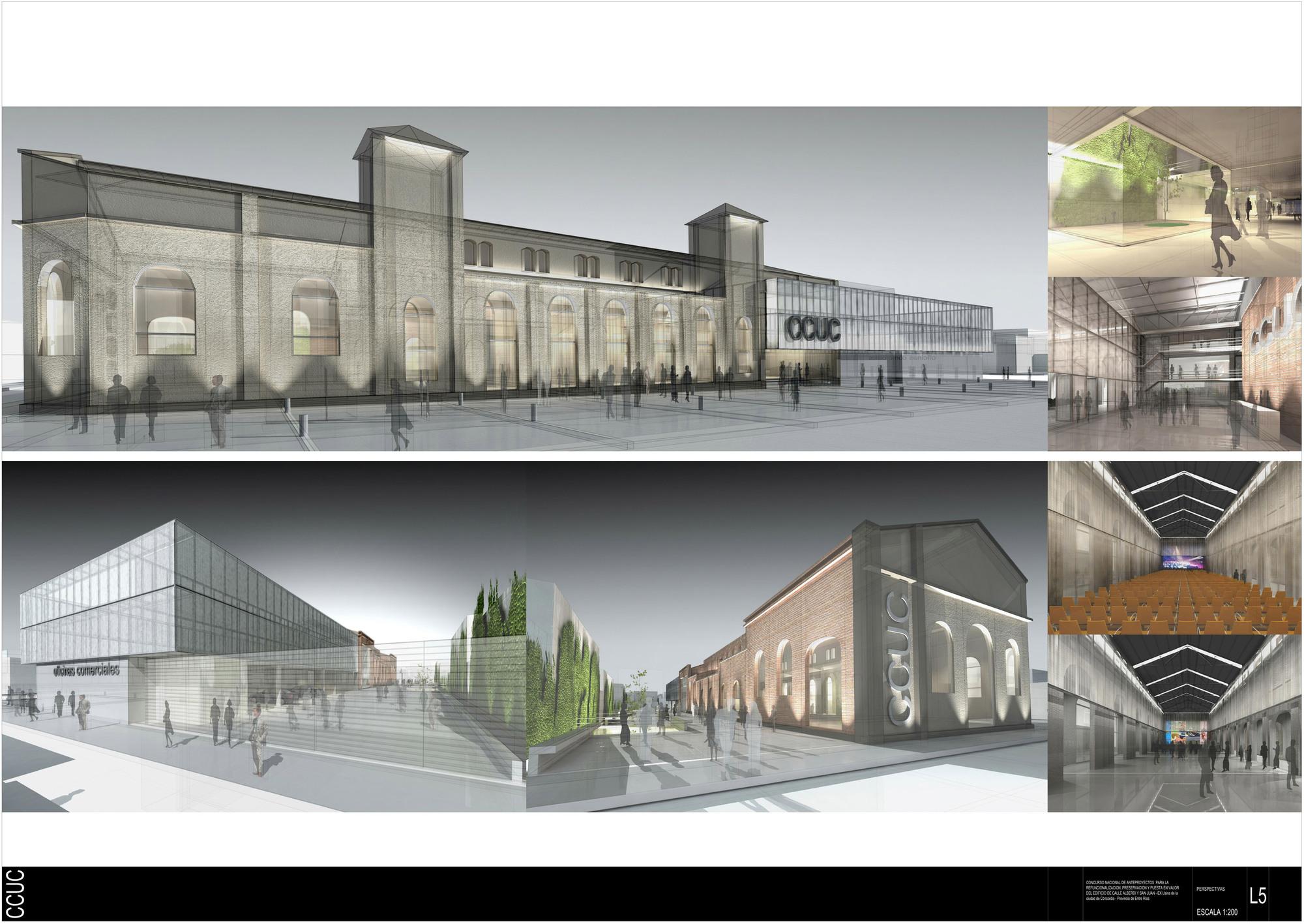 Primer premio concurso centro cultural ex usina concordia for Arquitectura de proyectos