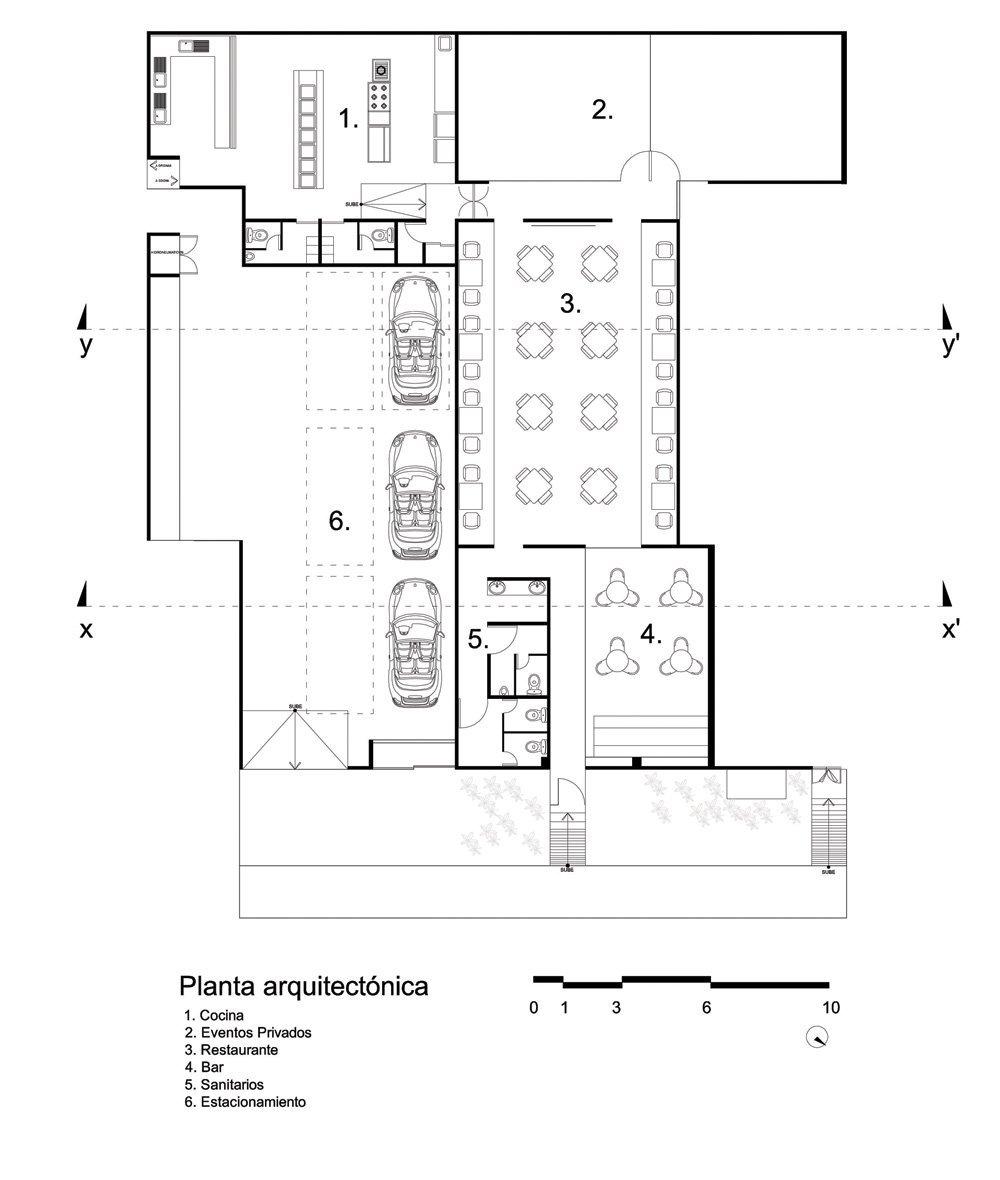 Galer a de restaurante la garita sg arquitectos 14 for Medidas cocina restaurante