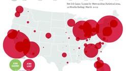 El mapa del desempleo en US